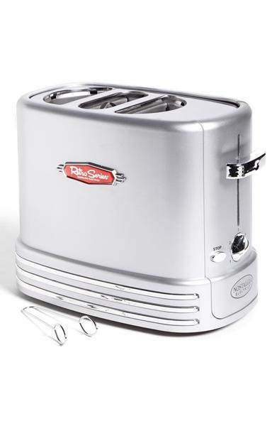 Electric toaster for hot dogs